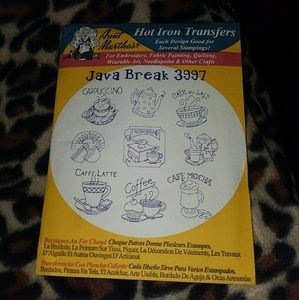 AUNT MARTHA'S VTG IRON-ON JAVA BREAK TRANSFERS
